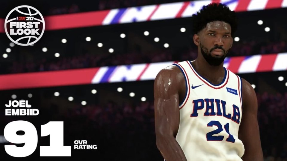 Biggest winners and loser NBA 2K20 ratings - Joel Embiid