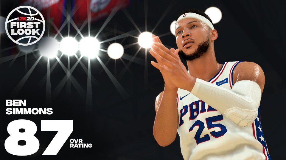 Biggest winners and loser NBA 2K20 ratings - Ben Simmons