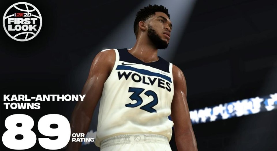 Biggest winners and loser NBA 2K20 ratings - Karl-Anthony Towns