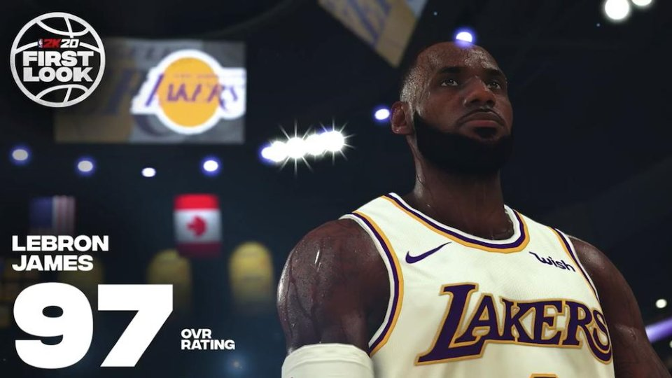 Biggest winners and loser NBA 2K20 ratings - Lebron James