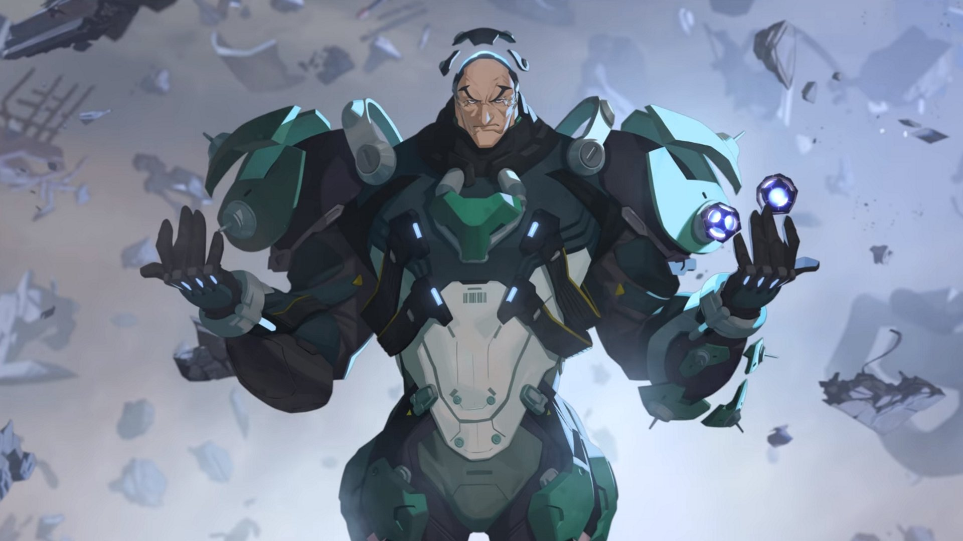 Sigma in his origin story - Sigma abilities in Overwatch.