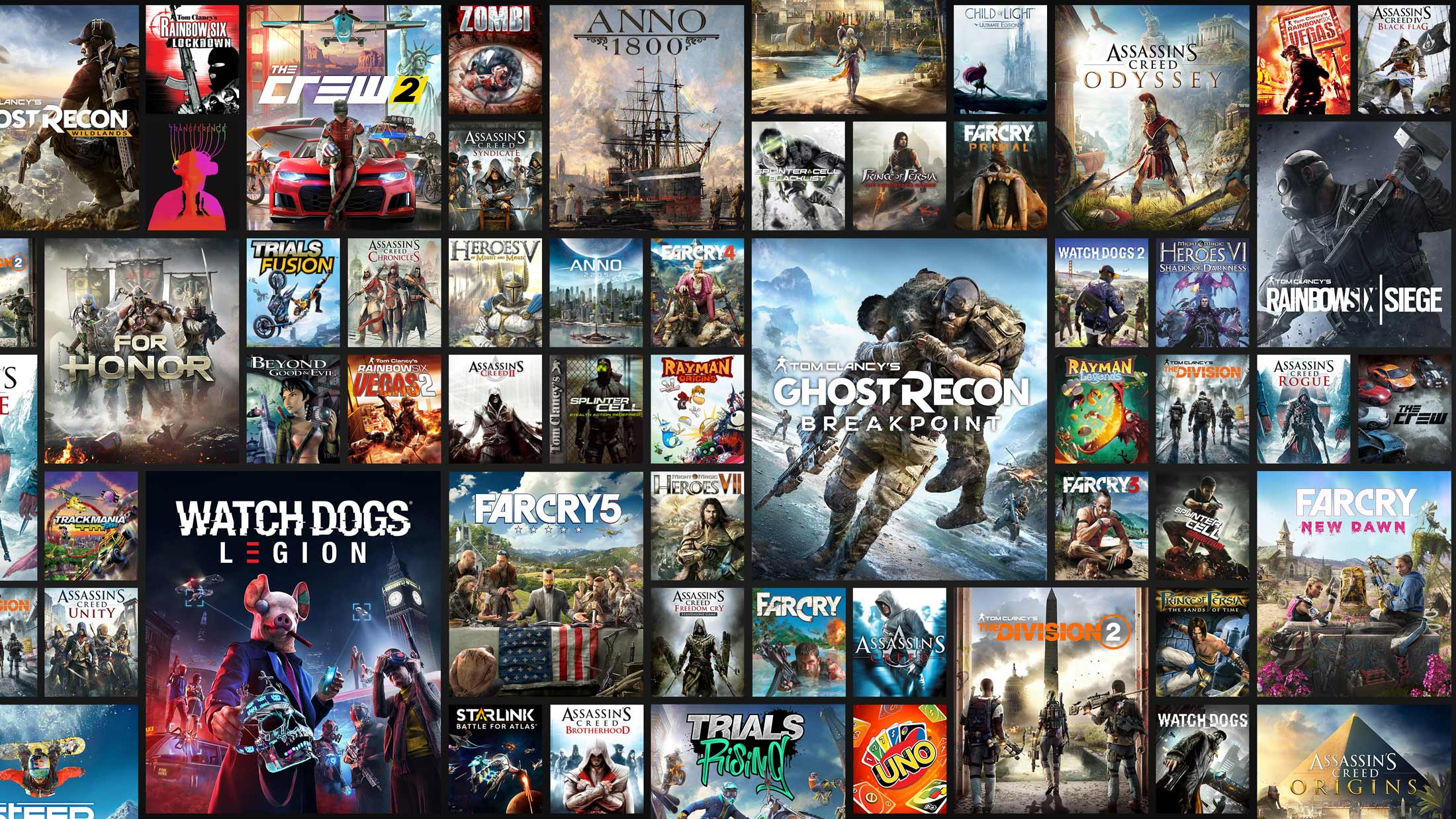 All games available through Uplay+