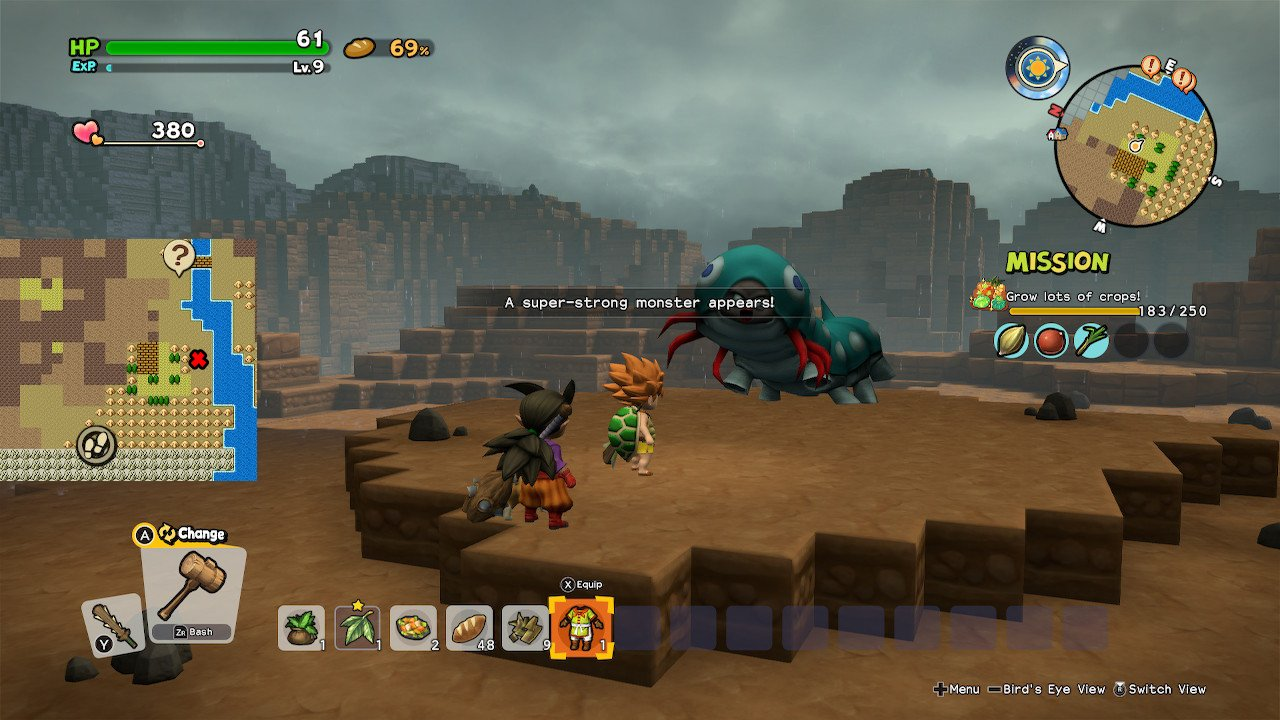 Dragon Quest Builders 2 super-strong monsters Killerpillar