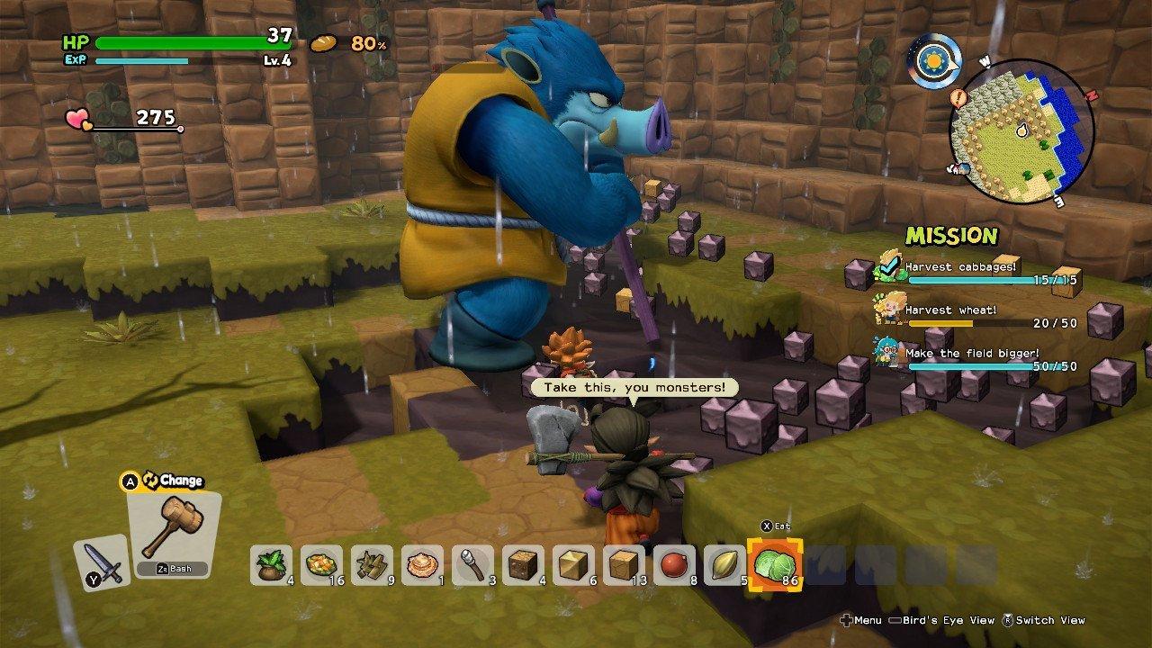 Dragon Quest Builders 2 monstruos súper fuertes King Orc
