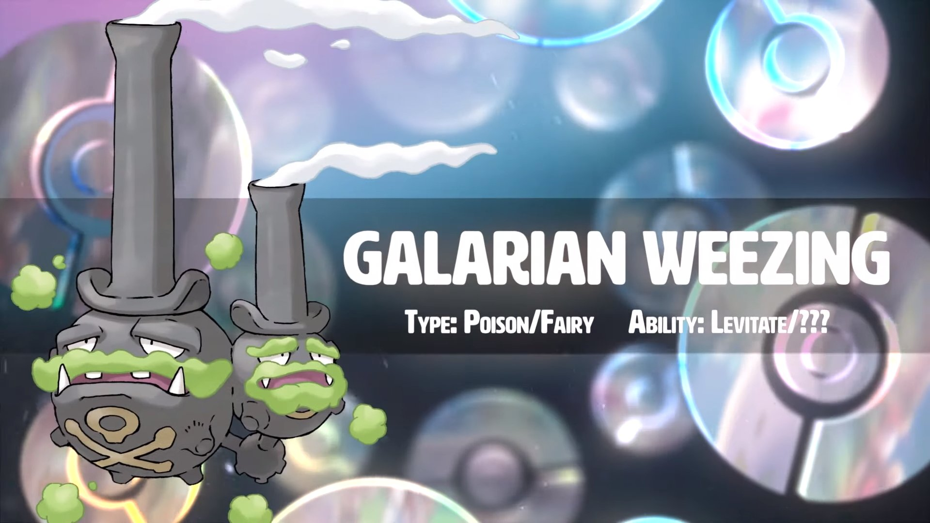 Galarian Weezing Pokemon Sword and Shield