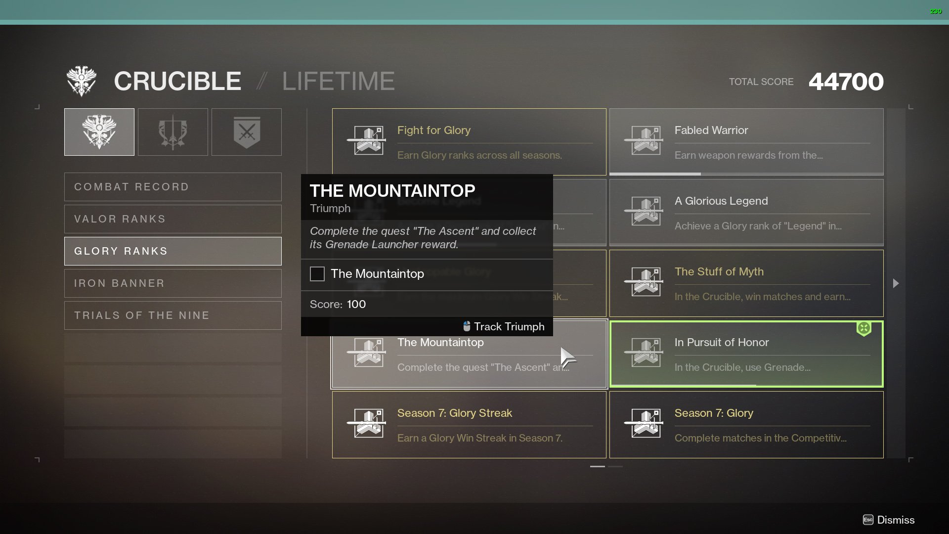 Get The Mountaintop in Destiny 2