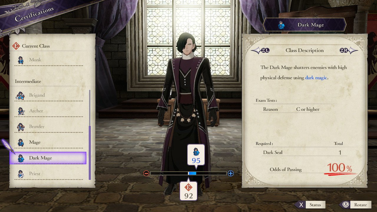 How to become a Dark Mage in Fire Emblem: Three Houses - Where to find a Dark Seal