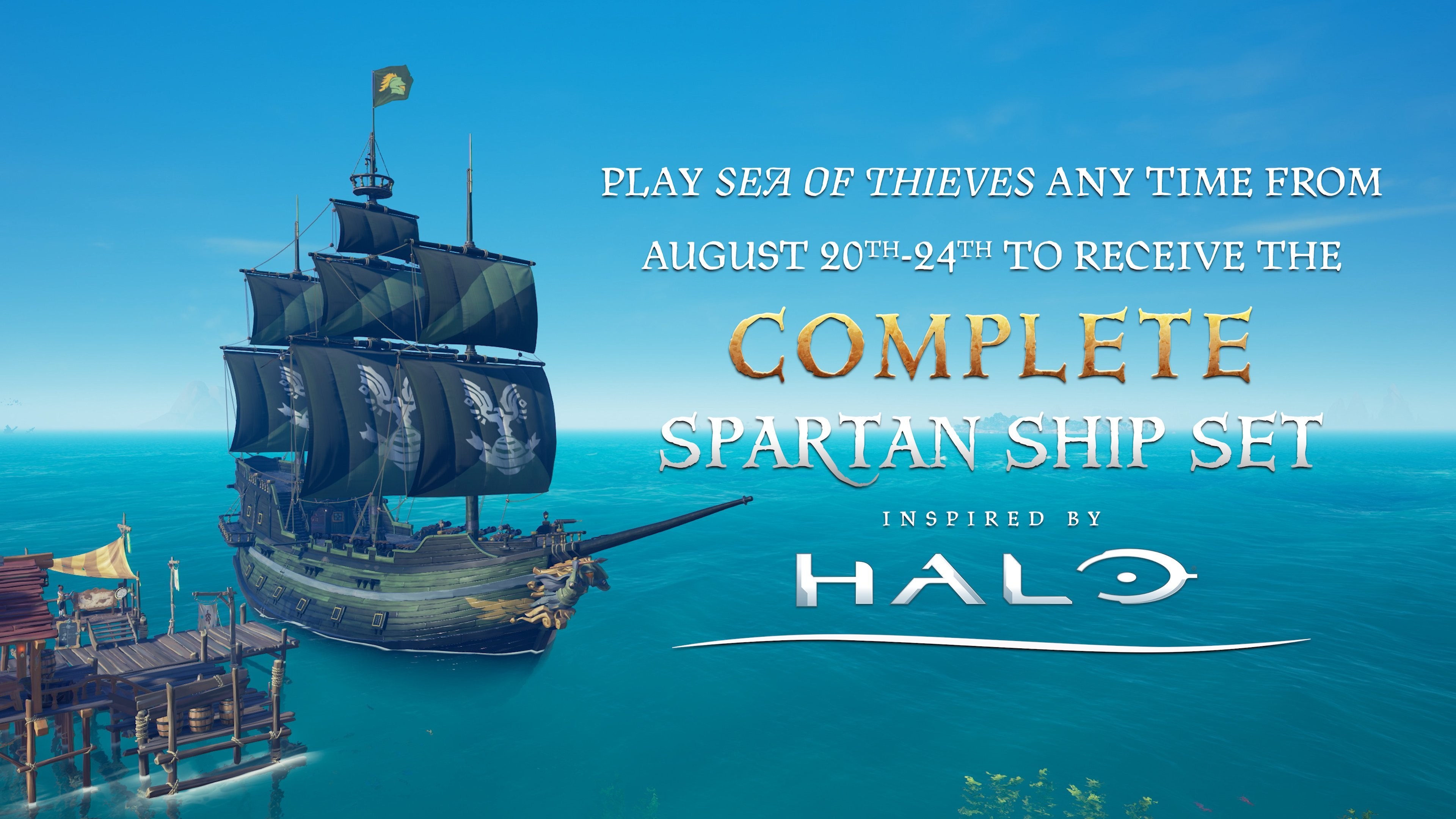How to get the Spartan Ship Set in Sea of Thieves
