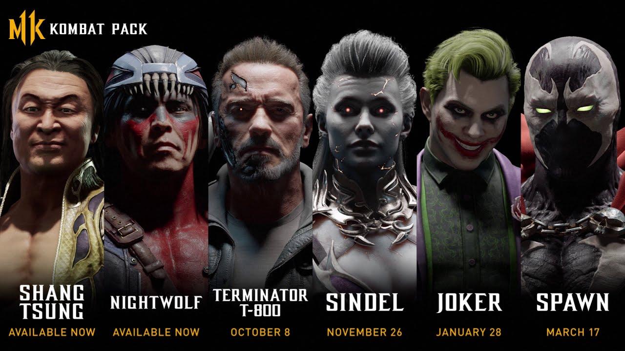 Mortal Kombat 11 Terminator Joker Sindel Spawn Release dates