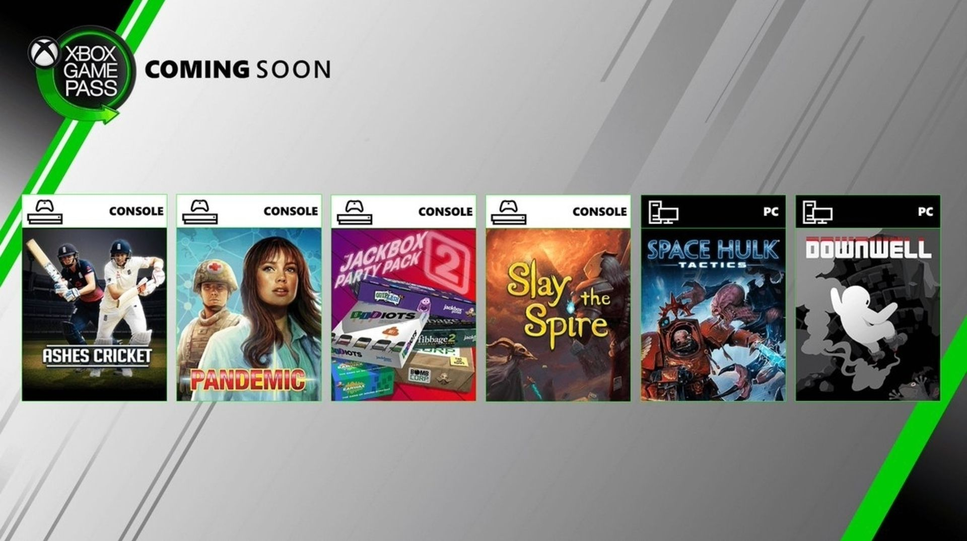 Xbox Game Pass - August 2019