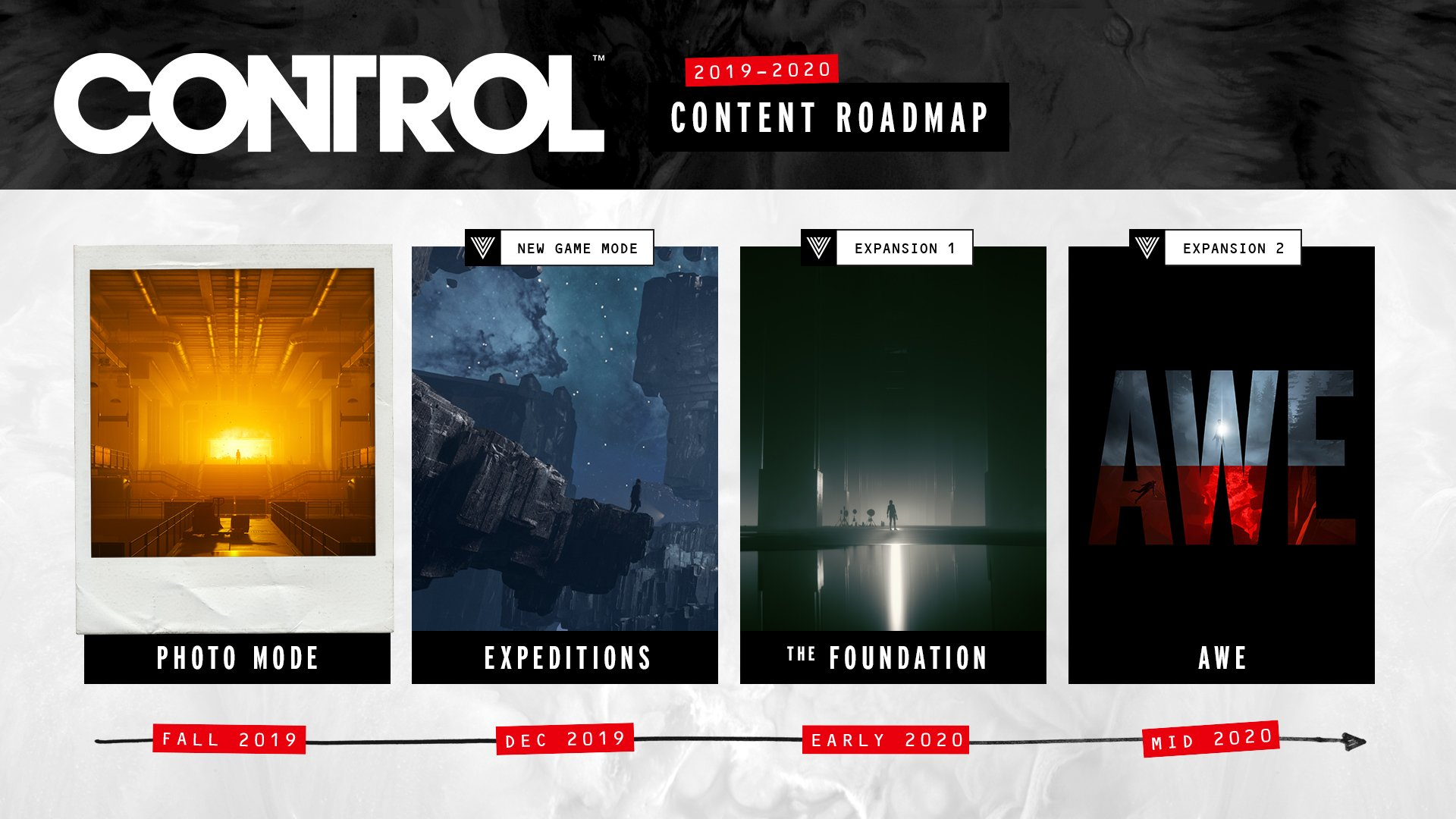 Control content DLC roadmap revealed Alan Wake