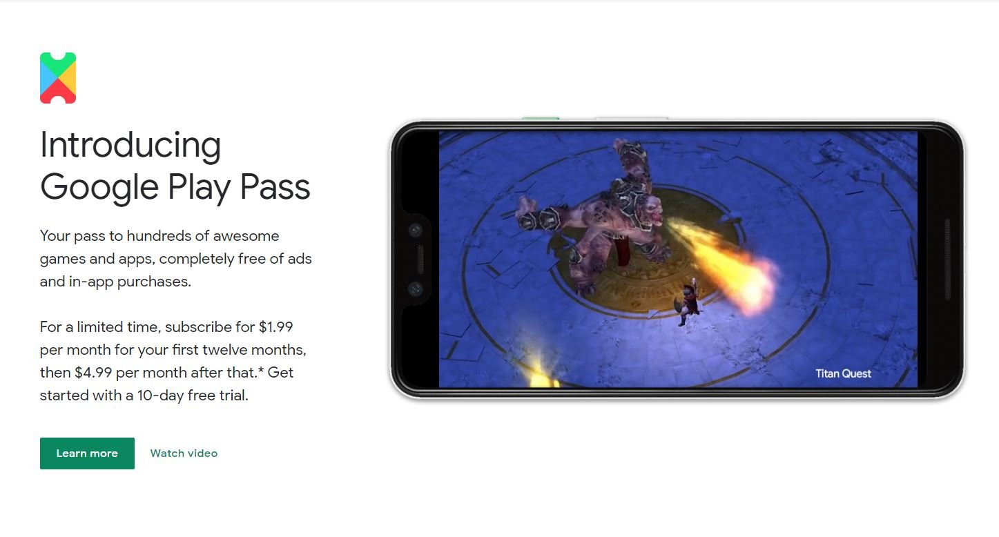 All games included with Google Play Pass