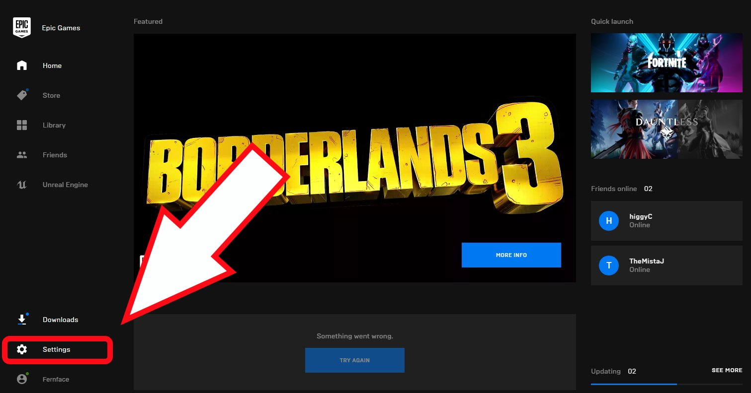 How to change Language in Borderlands 3 PC Epic Games Store