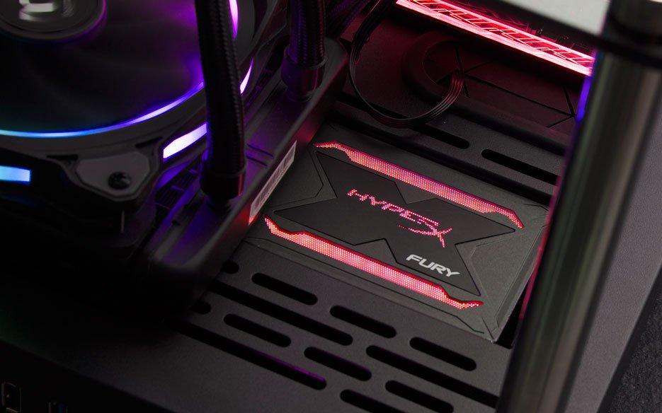 HyperX FURY RGB SSD Red