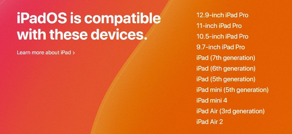 These devices are compatible with iPadOS and can run Apple Arcade.