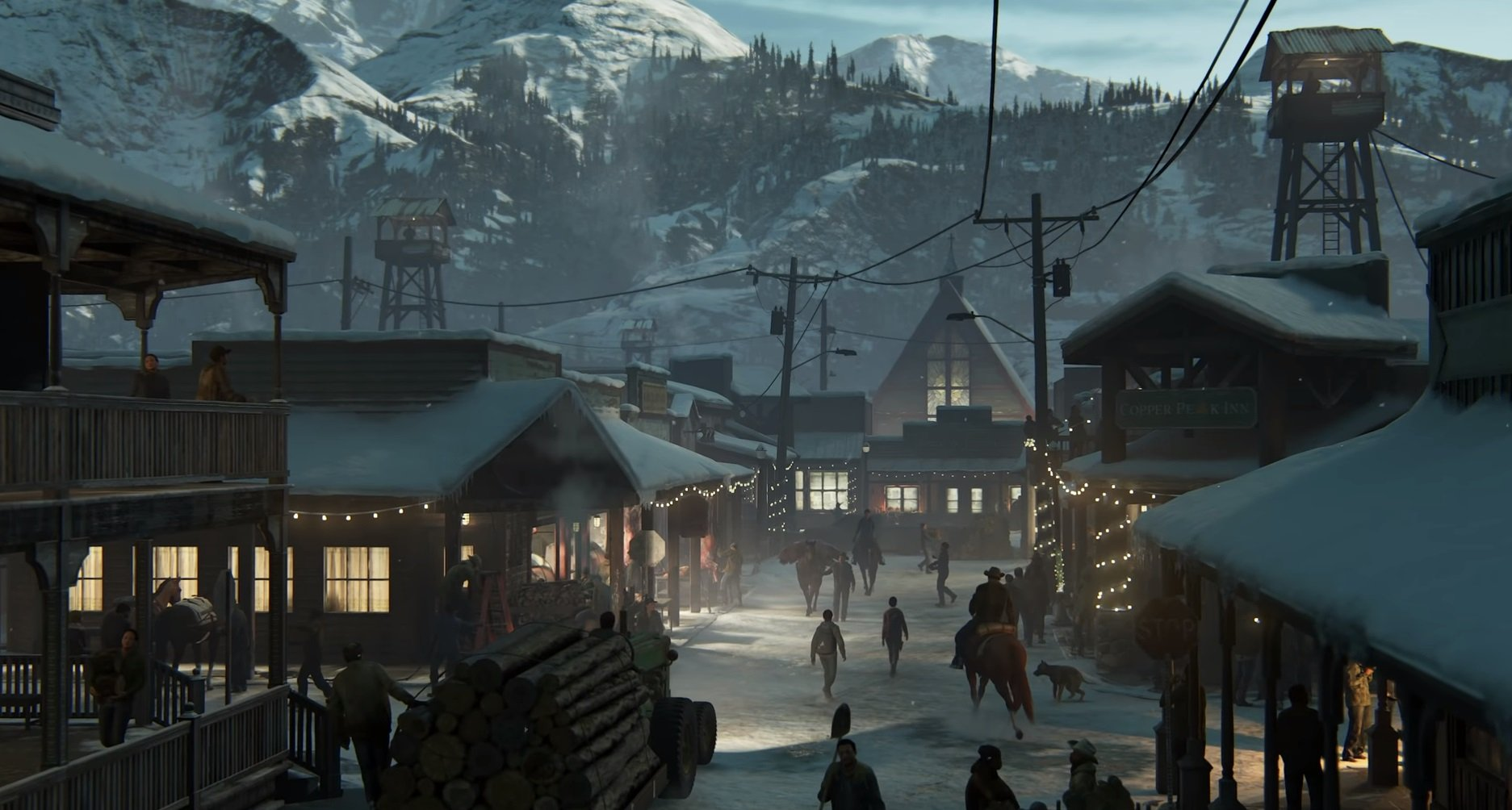 A town is shown in the trailer that may serve as an early base of operations in The Last of Us Part II.