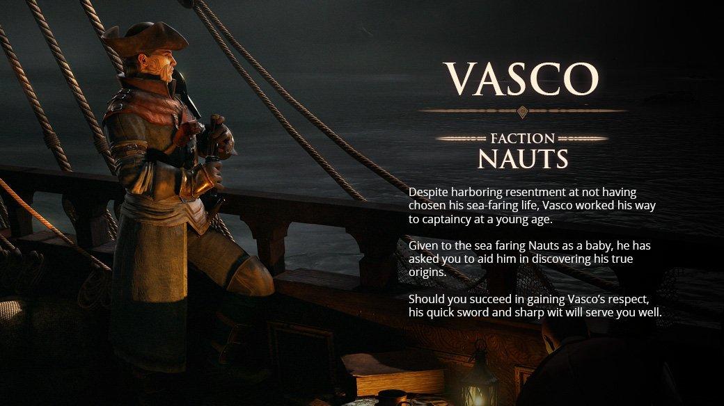 Greedfall Vasco companion locations