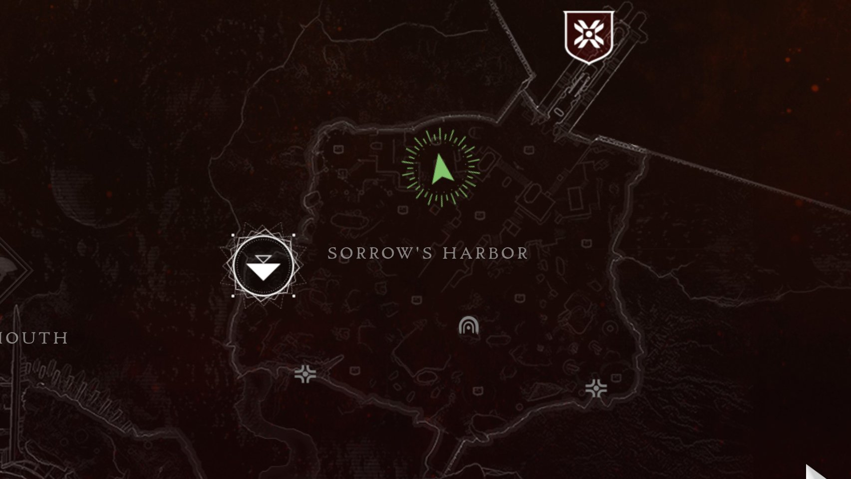 The Jade Rabbit in Sorrow's Harbor is nestled between some fallen rocks at this location