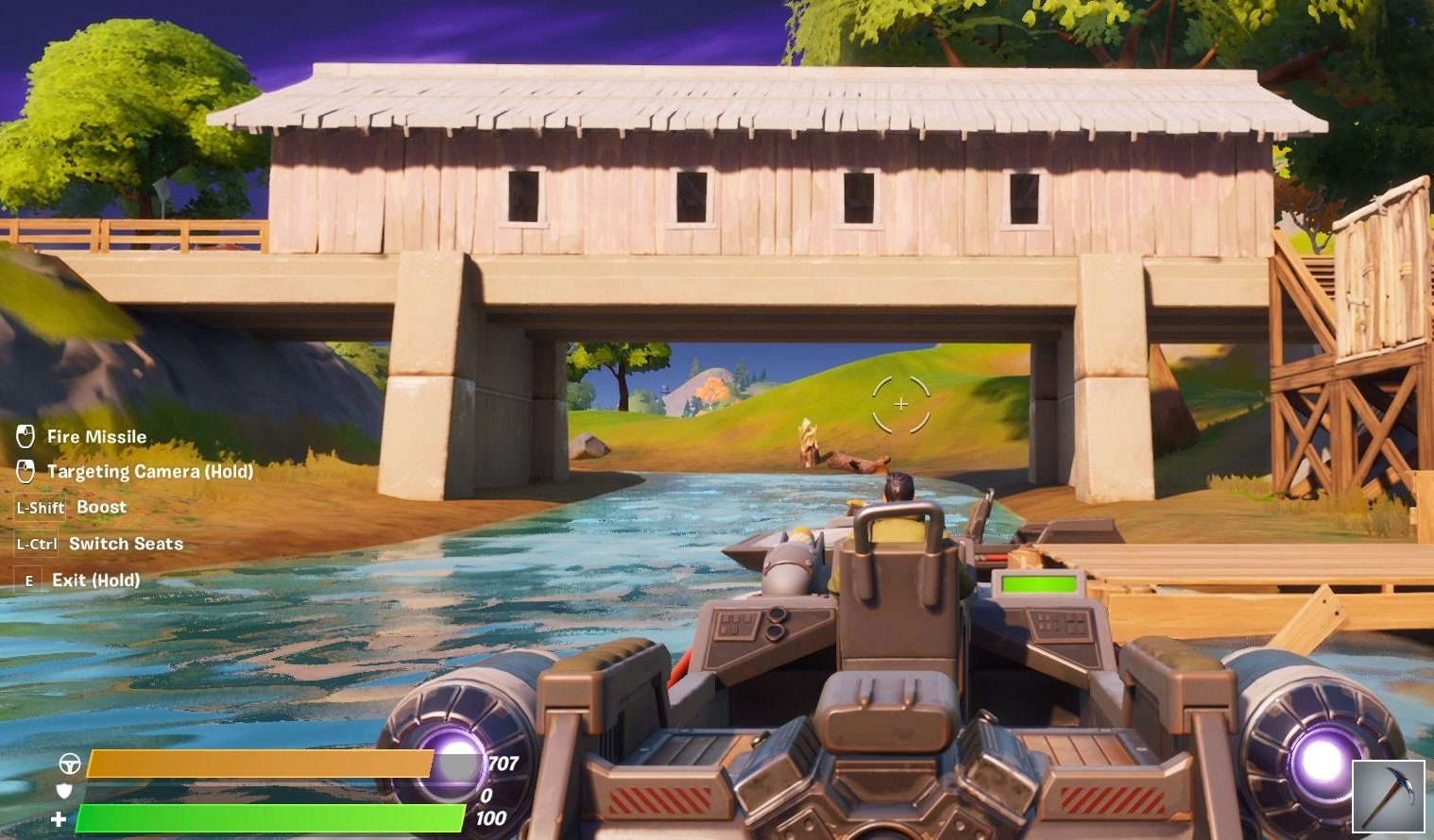 You can technically drive boats on land in Fortnite Chapter 2, but doing so will slowly damage your boat.