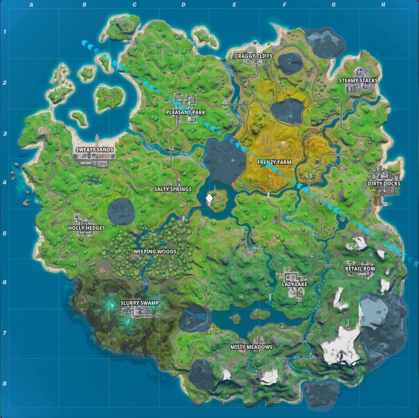 Fortnite Chapter 2 map Season 1