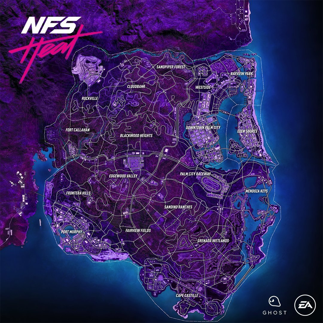 Need For Speed Heat Map Reveals The World Of Palm City Allgamers