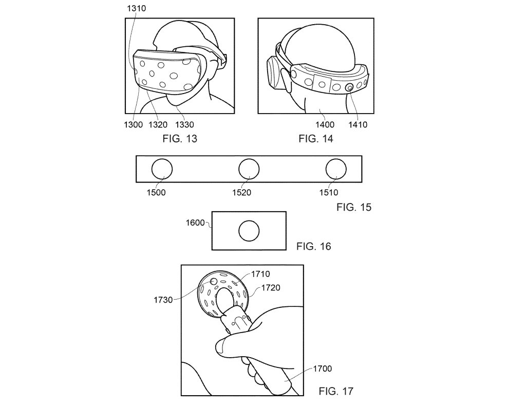 The PSVR2 headset patent also shows move controllers with embedded cameras © Sony/USPTO