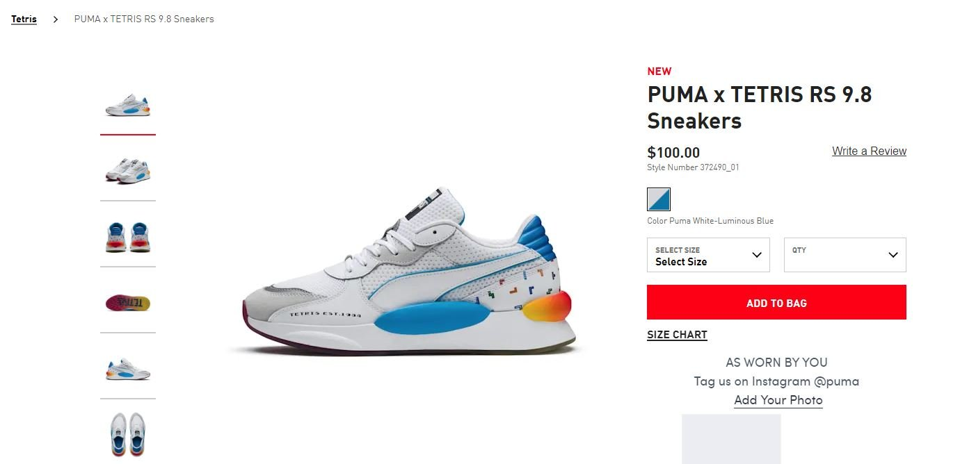 You can buy custom Tetris shoes from Puma