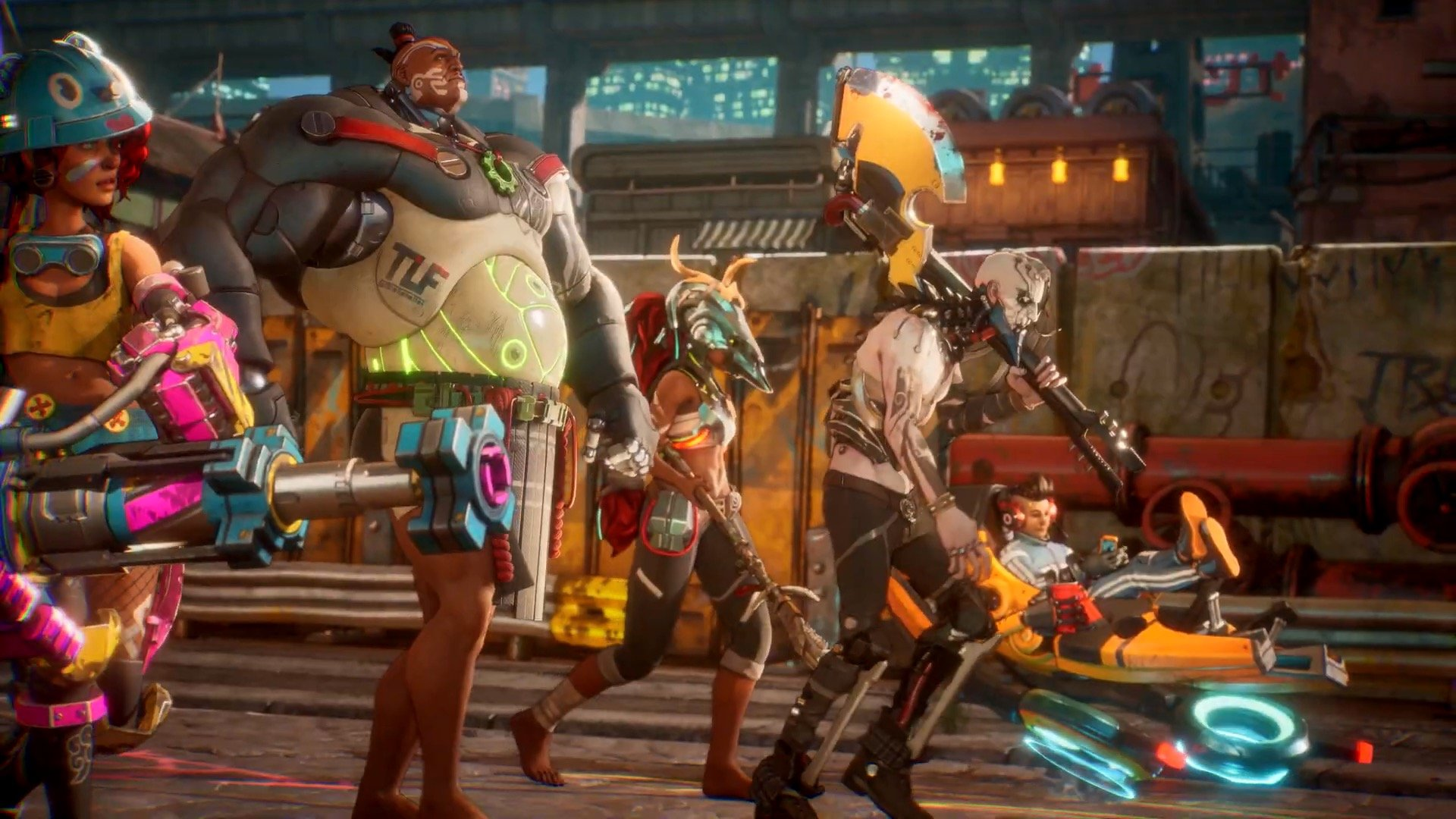 All playable characters in Bleeding Edge