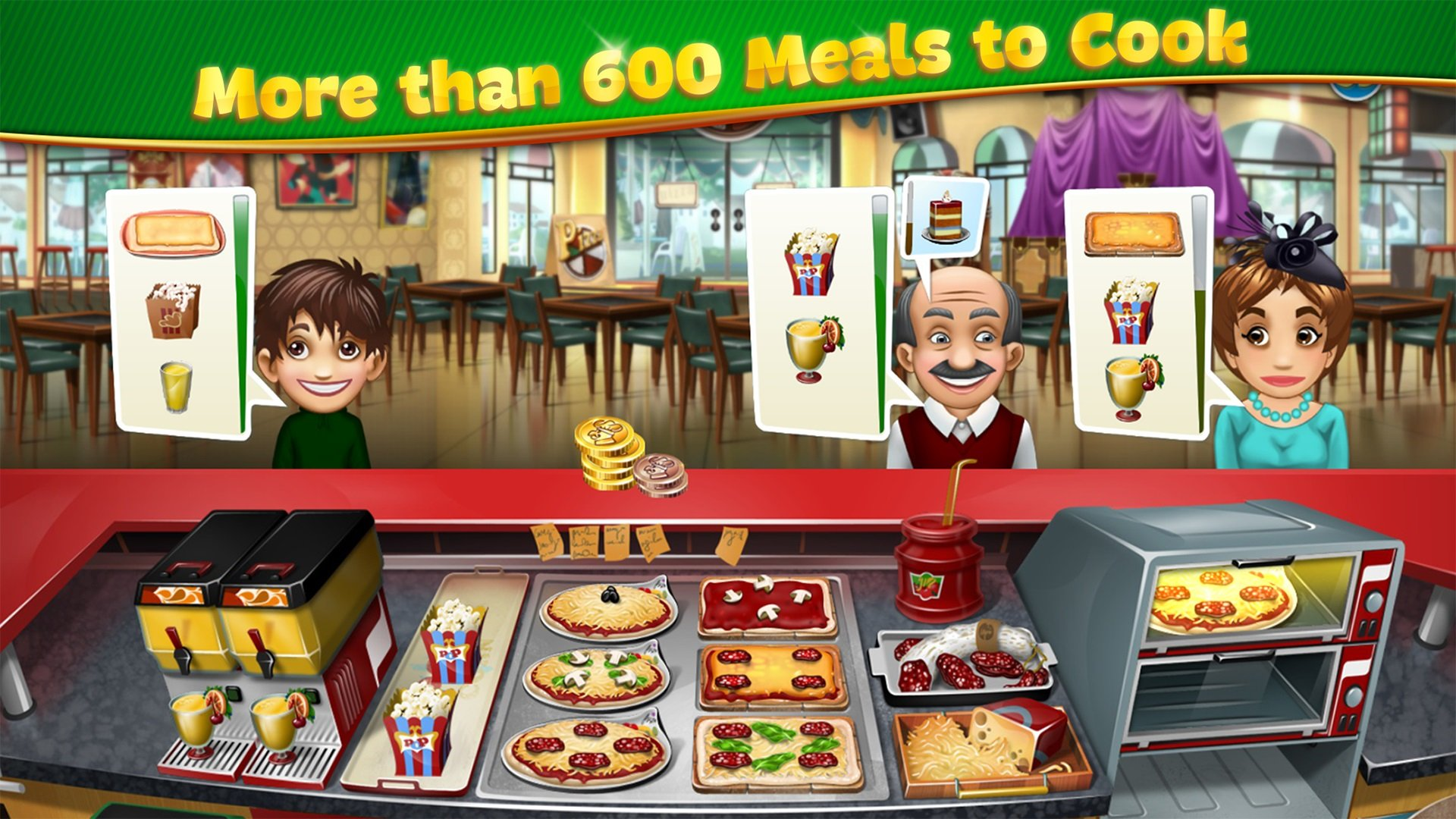 There's no shortage of cooking games for mobile devices, with one noteworthy example being Cooking Fever!