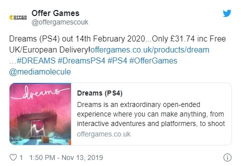 Dreams PS4 release date leak