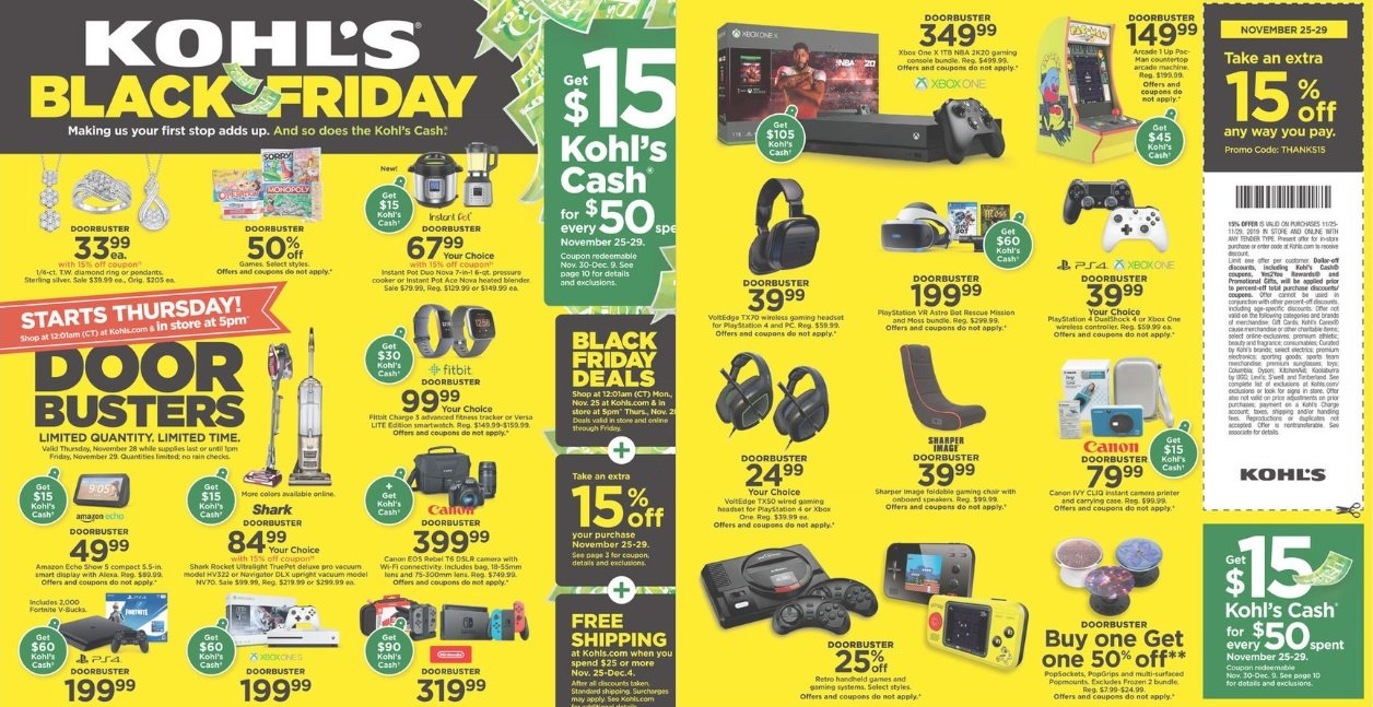 Kohl's Black Friday 2019 ad now available