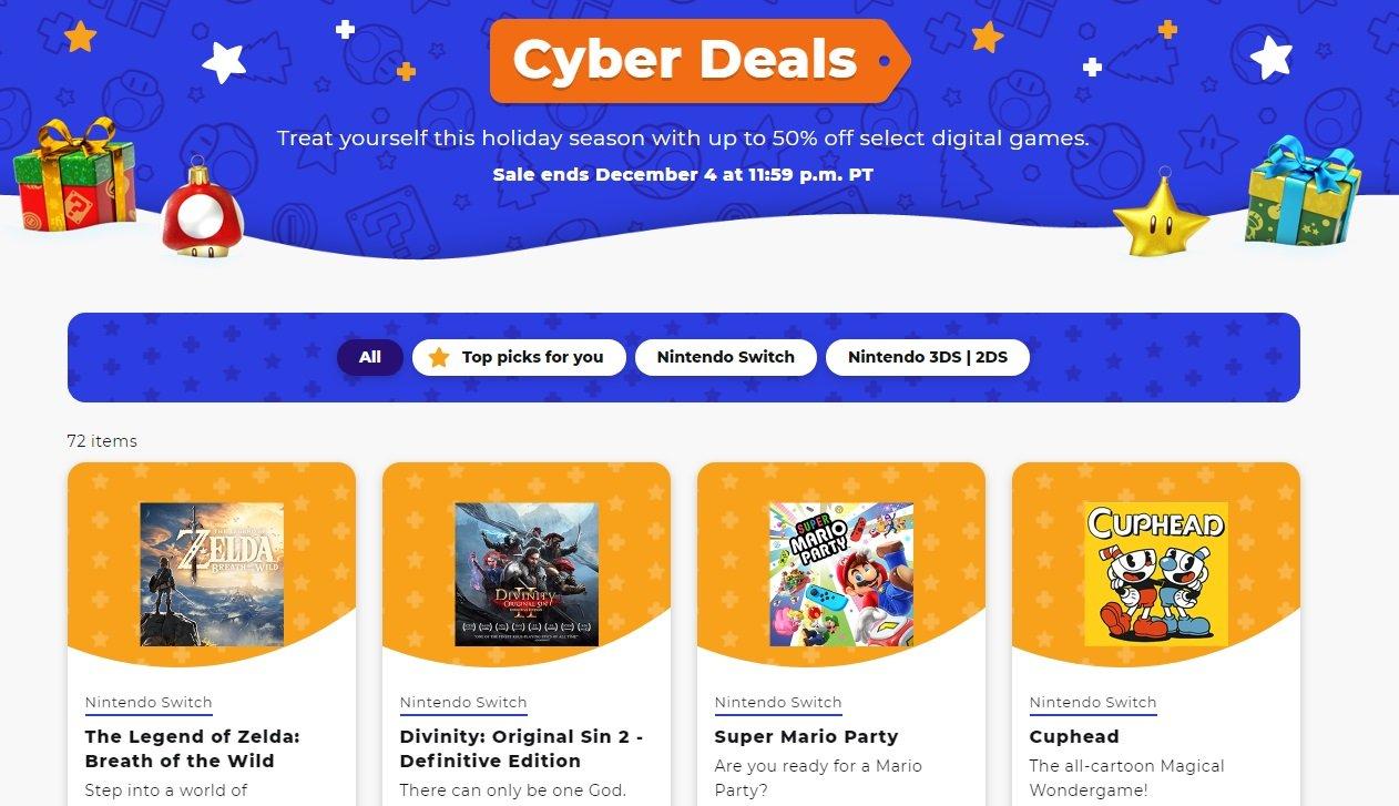 Cyber Deals revealed for Nintendo eShop