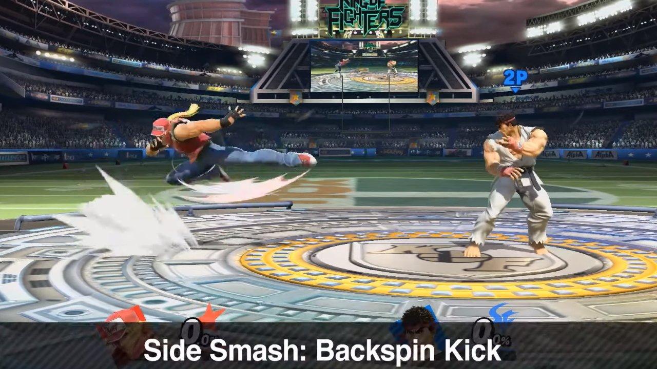 Terry Bogard Smash Attacks Smash Ultimate moveset