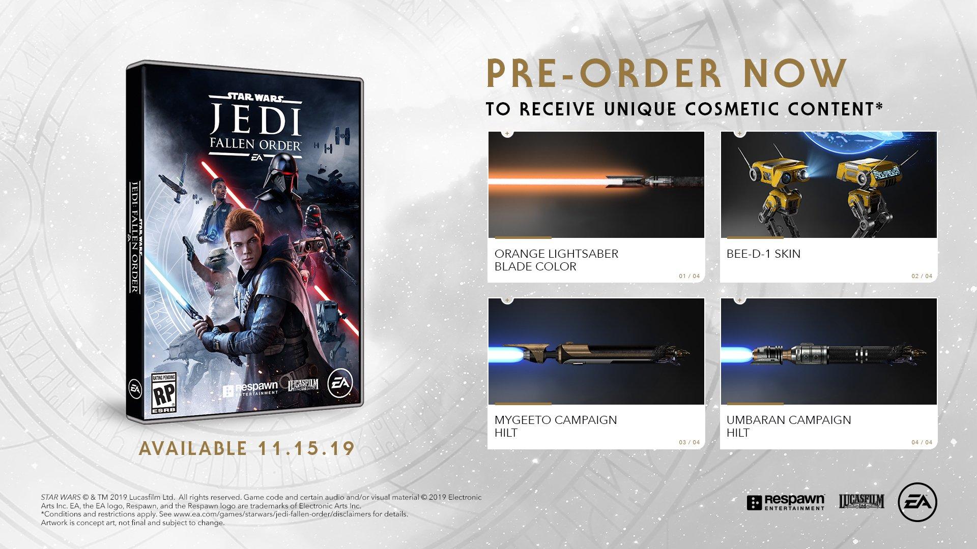Star Wars Jedi: Fallen Order preorder bonus location
