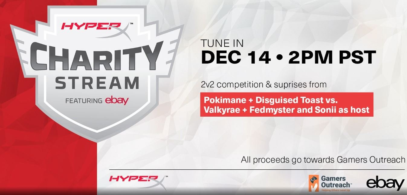 HyperX hosting Charity Stream on December 14