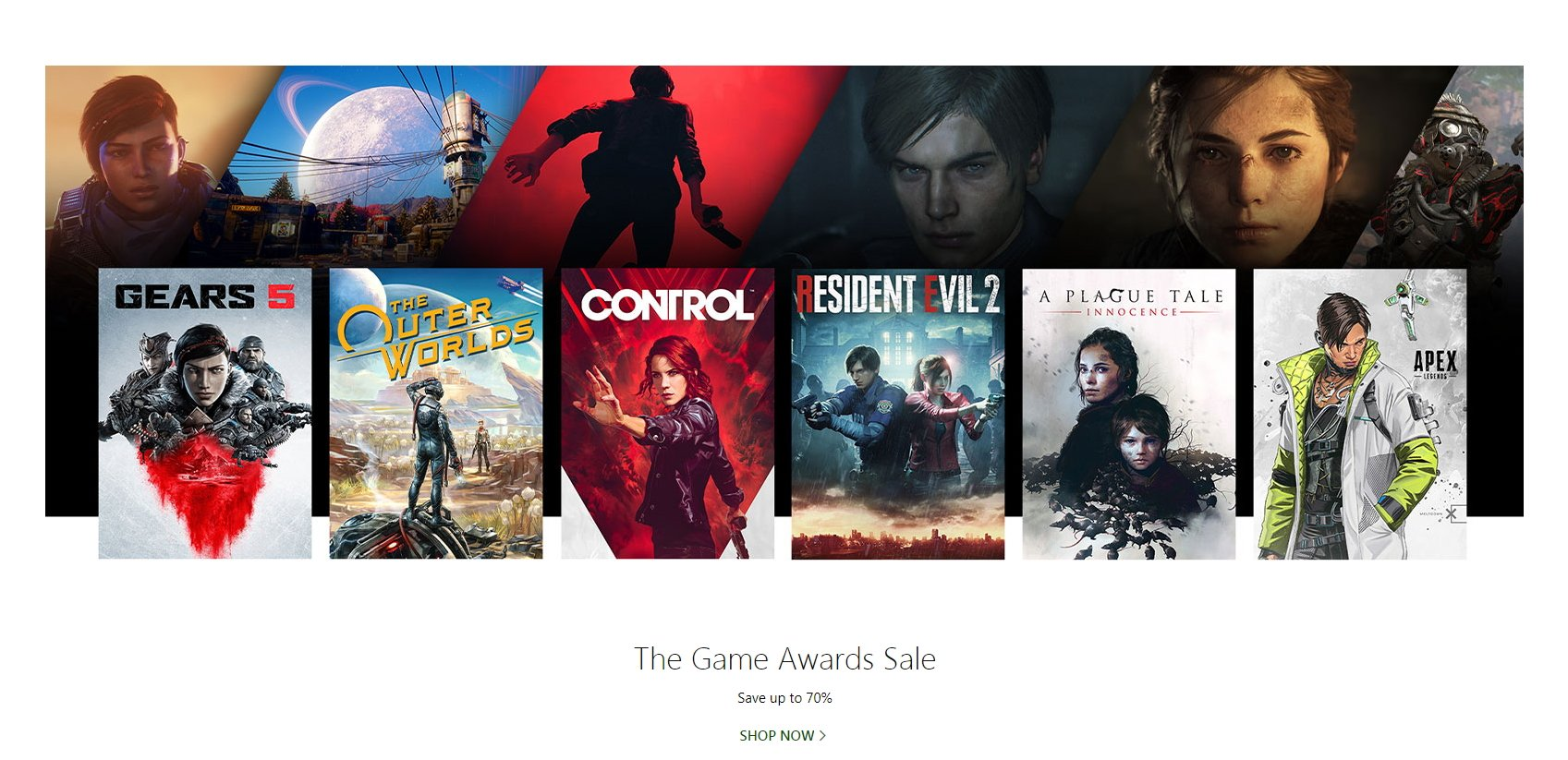 Microsoft The Game Awards Sale Xbox One