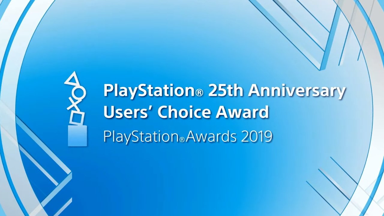 PlayStation Awards 2019 users choice award