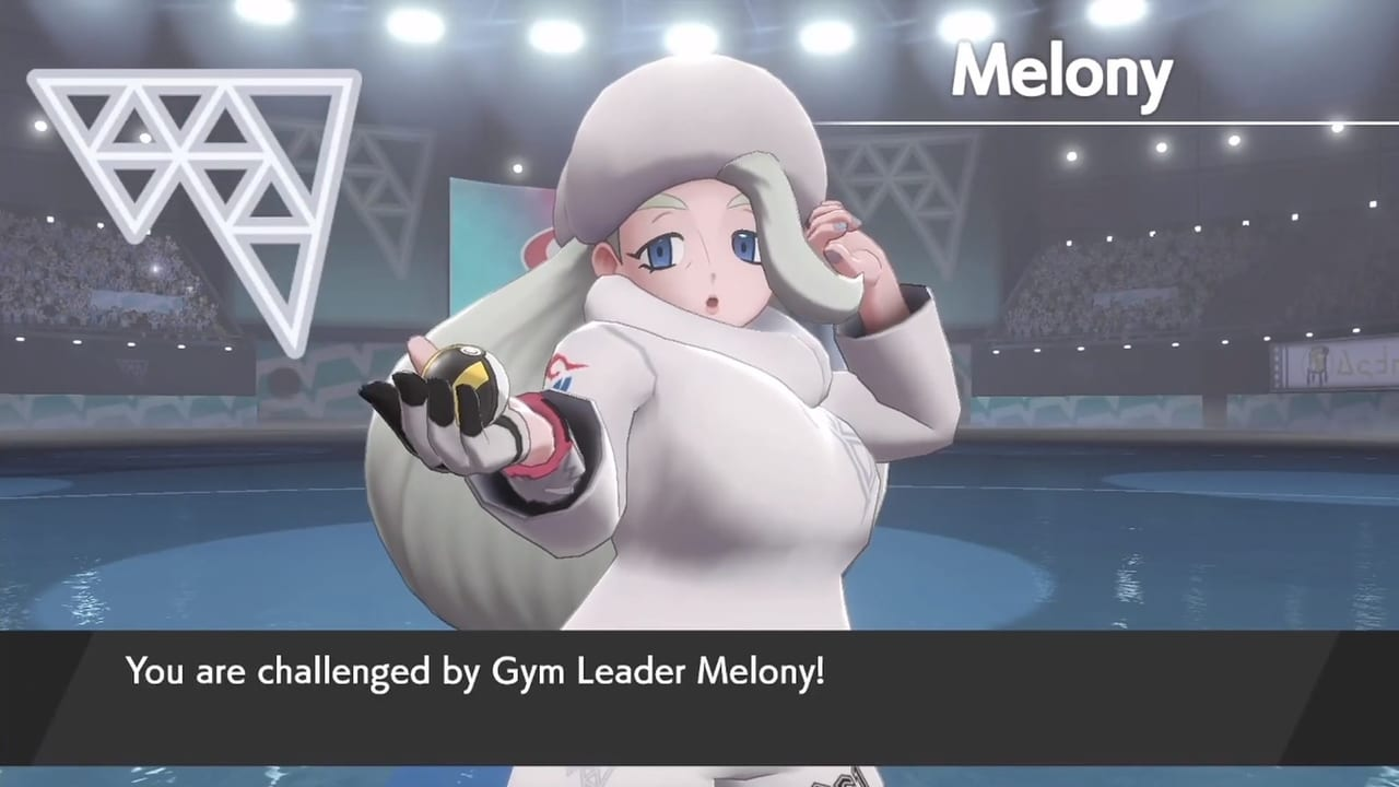 If you bought a copy of Pokemon Shield, the sixth Gym Leader you'll encounter is Melony who uses Ice-type Pokemon.