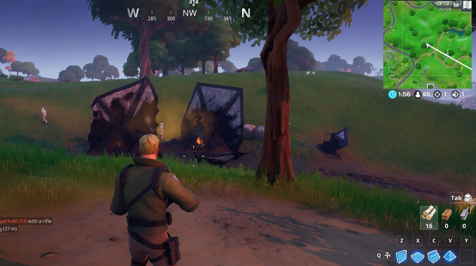 Where to find TIE Fighter crash sites in Fortnite