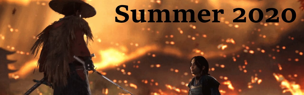 Summer 2020 video game release dates