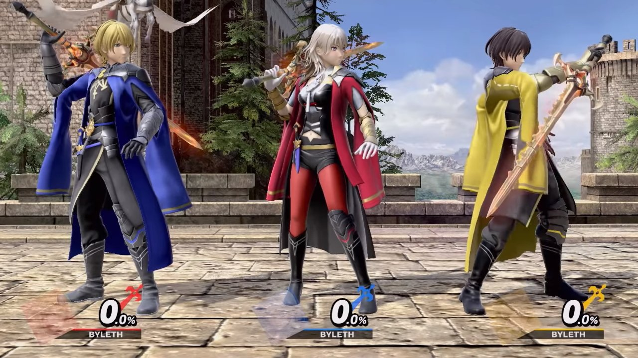 All Byleth outfits in Smash Ultimate