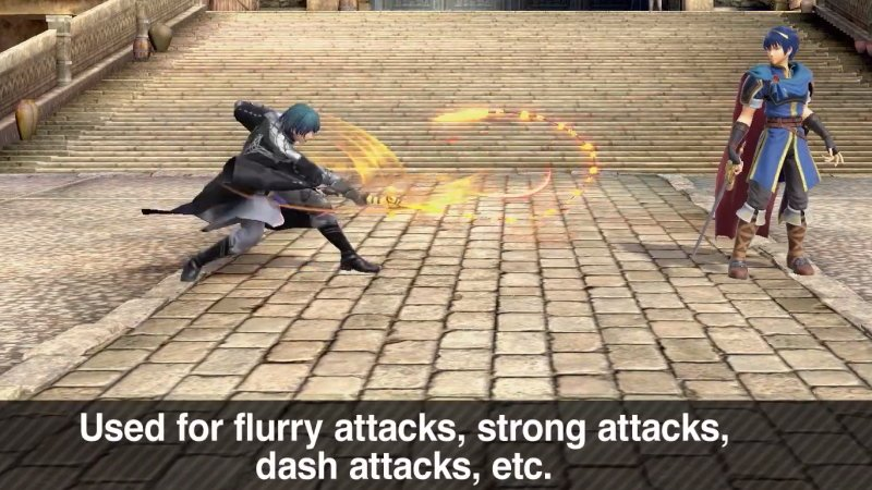 Byleth's moves in Smash Ultimate