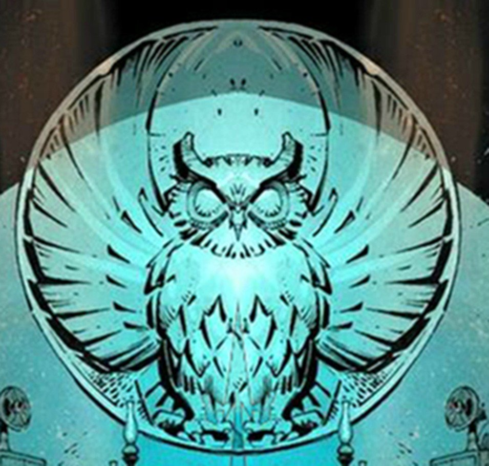 The Court of Owls insignia.