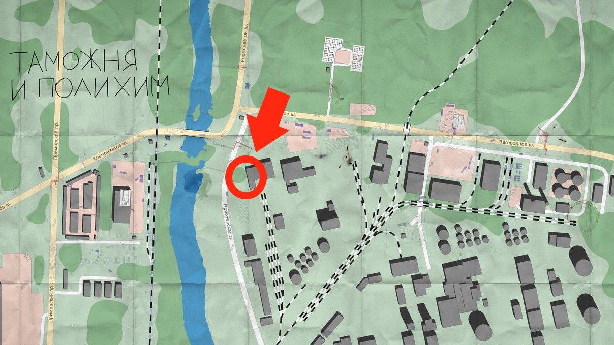 Escape from Tarkov Unknown Key guide - location map