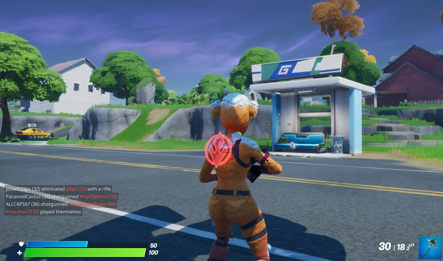 Bus Stop location in Salty Springs in Fortnite