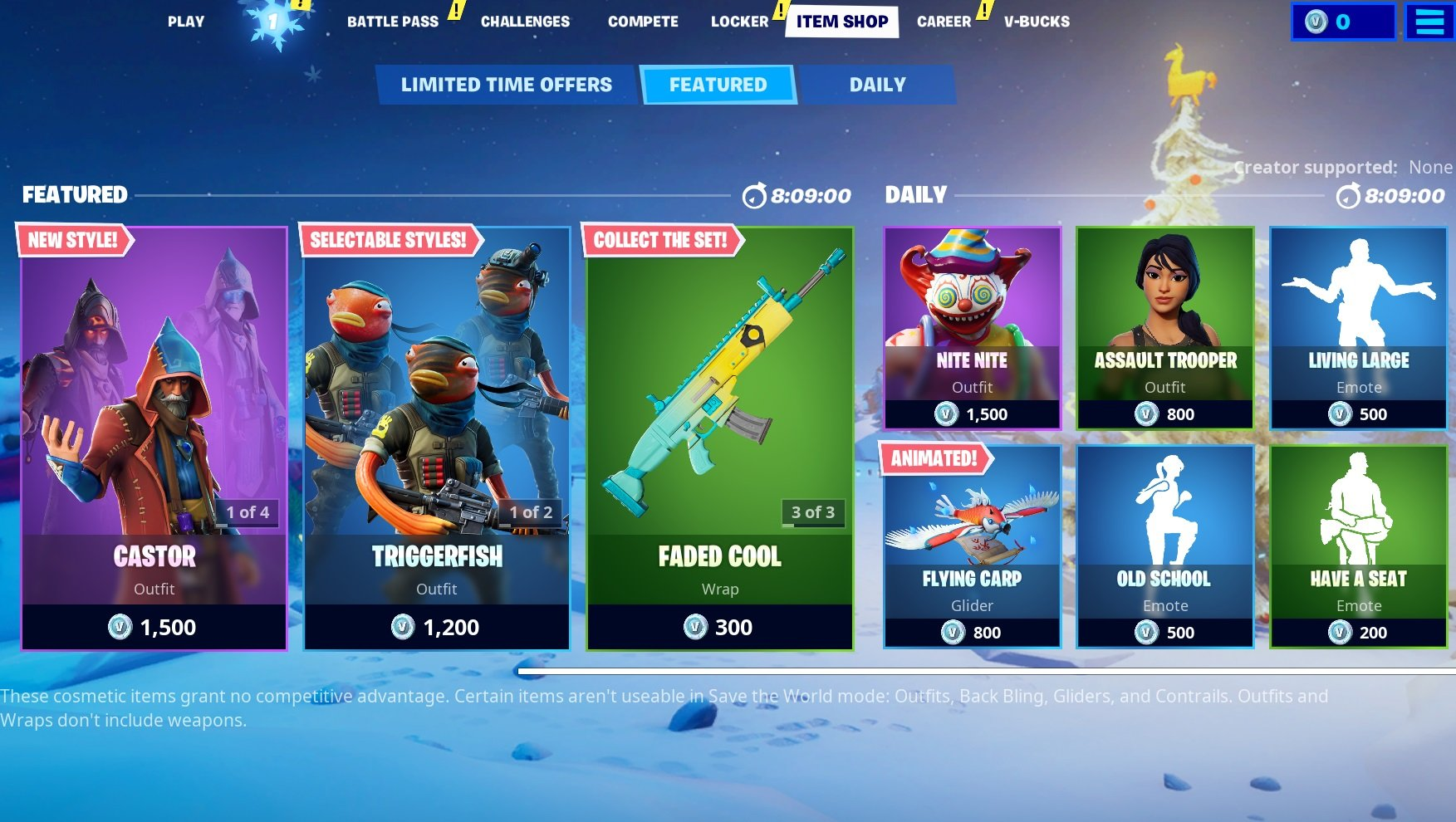 You have less than 8 hours to grab items like the Triggerfish Outfit and Flying Carp Glider in Fortnite.