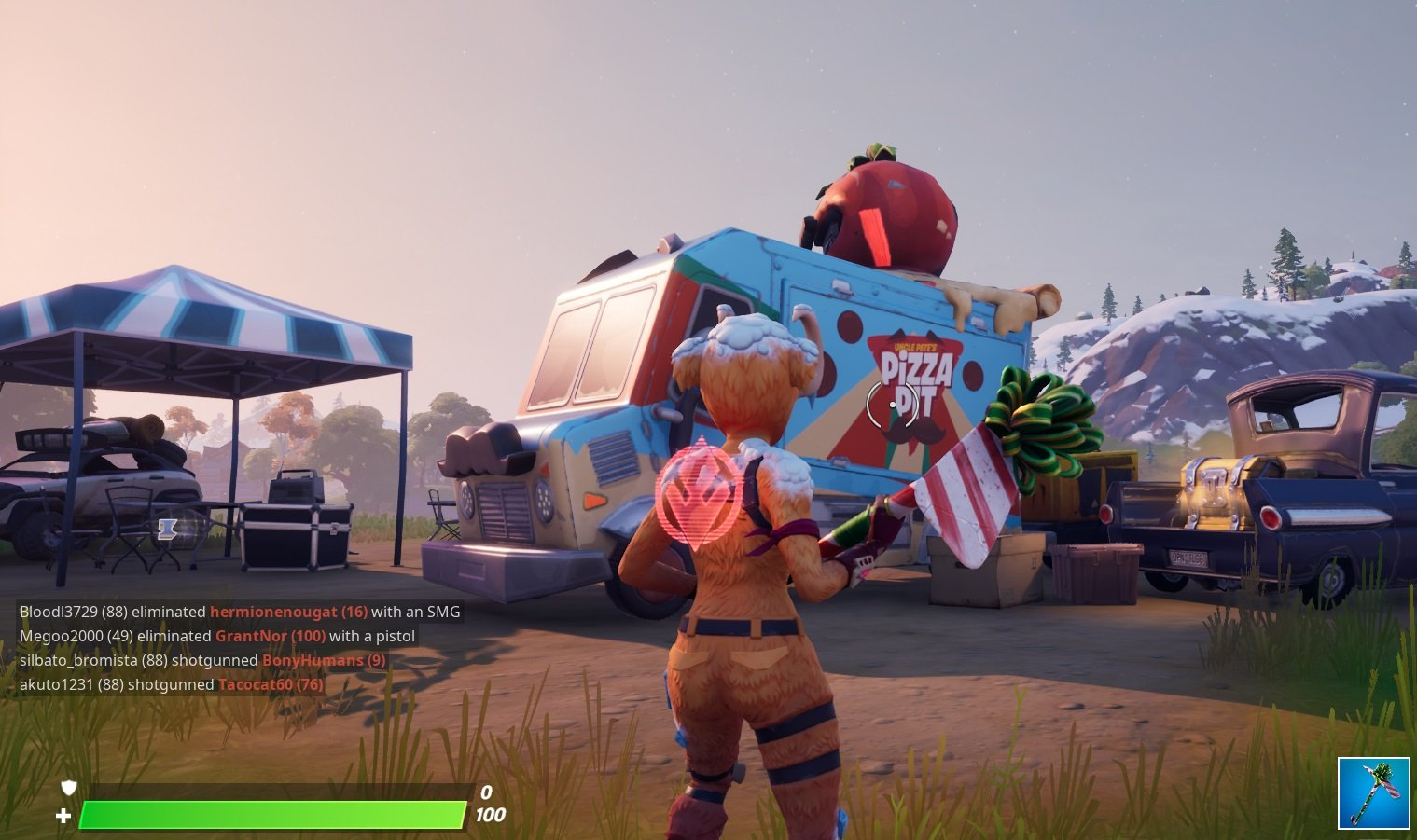 The location of the Pizza Pit Food Truck in Fortnite.