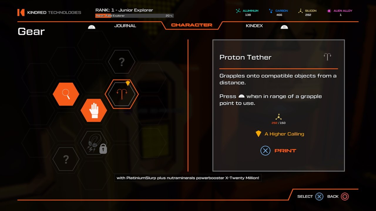 How to get the proton tether in Journey to the Savage Planet