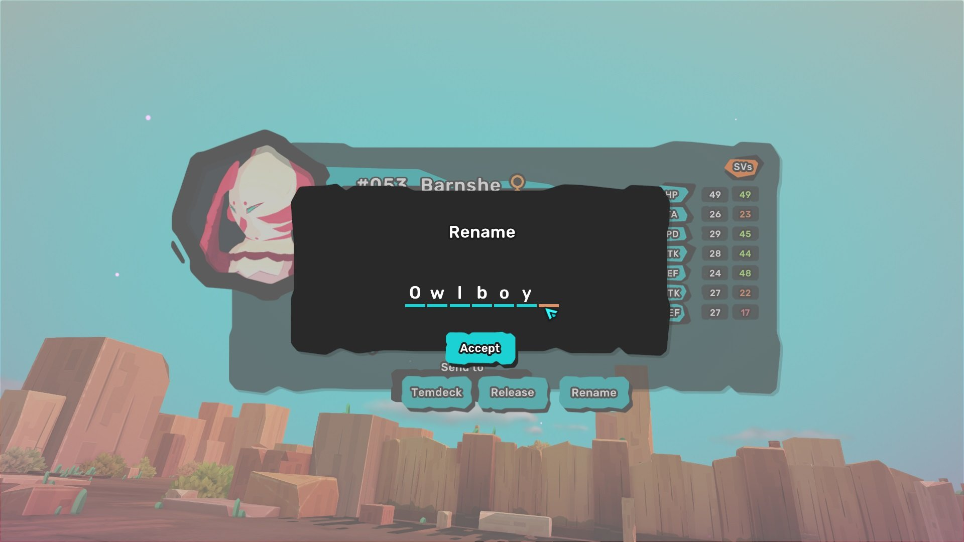 Can you rename your Temtem?