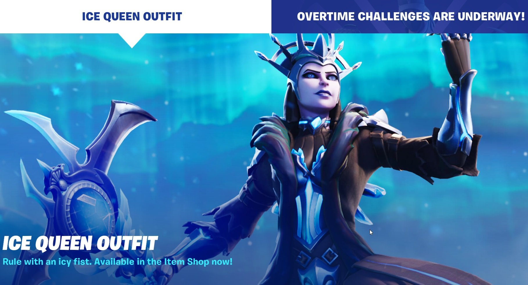 Ice Queen Outfit available in Fortnite